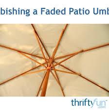 refurbishing a faded patio umbrella