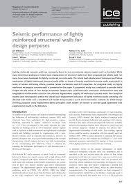 Small Picture Seismic performance of lightly reinforced structural walls for