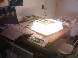 light box for drawing or inking or