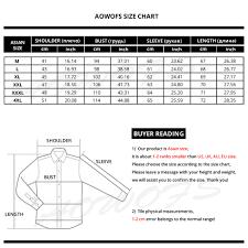 Mens Collar Shirt Size Chart Rldm