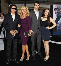 nick simmons and sophie simmons. time to go: gene simmons and his wife shannon tweed, pictured here at the nick sophie s