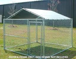 outdoor dog cage details about outdoor dog kennel cover x large steel roof pen cage fence outdoor dog