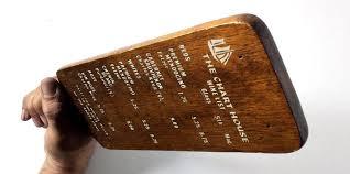 Details About 1979 Vintage Wood Plank Wine List Menu Chart