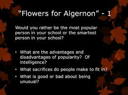 flowers for algernon rdquo ppt video online 1 ldquoflowers
