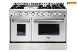 6 burner stove with double oven. Modren Burner Thor Kitchen HRG4808U 48u0026quot Gas Range Freestanding Double Ovens 6  Burners Intended Burner Stove With Oven Y