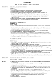 Scientist Resume Examples Best of Marketing Science Resume Samples Velvet Jobs