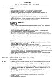 Resume Format For Marketing Job Best of Marketing Science Resume Samples Velvet Jobs