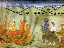 the liberation of sita relives the ra ana through sita s eyes sita s agni pariksha credit