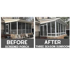 sunrooms screen porch conversions