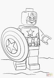 Kleurplaat Captain America Krijg Het Lego Spiderman Kleurplaat