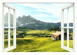 scenic wall decals landscape mountains view wall decal window wall decal zoom window view scenery wall