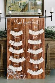 diy rustic wood wedding seating chart ideas