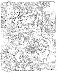 Coloring Pages For Adults Difficult Fairies Places To Visit
