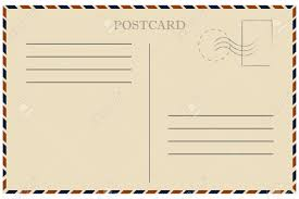 Vintage Postcards Templates Romantic Air Mail Letter Opened Envelope Stock Vector