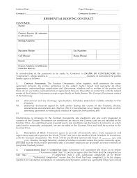 Roofing Contract Template Free Roofing Contract Forms Rome Fontanacountryinn Com