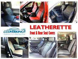 coverking leatherette front rear seat covers for 2016 toyota tundra crewmax