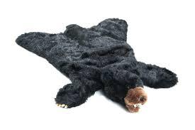 black bear plush rug animal stuffed rugs