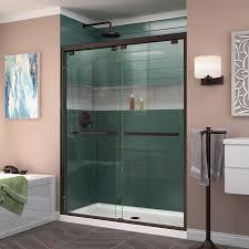 DreamLine Encore 56-in to 60-in W Frameless Oil Rubbed Bronze Sliding Shower