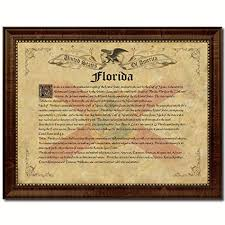 Interior Design Schools Florida Extraordinary Amazon Florida State Vintage History Flag Art Custom Picture