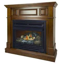 convertible ventless natural gas fireplace in heritage