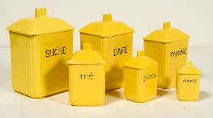 Yellow Canister Sets Kitchen Accessories Wonderful French Ceramic Canisters Set Omero Home