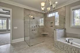 Gray Mosaic Marble Wall Bath Panels Master Bathroom Shower Designs High Arc  Bronze Nickel Two Luxury Home Decorating Ideas Tile Designs For Showers  Chic ...