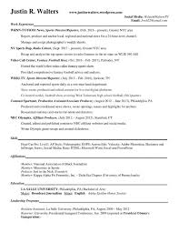 Resume In English Fascinating Resume Justin R Walters