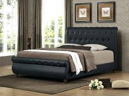 upholstered leather sleigh bed. Sleigh Bed With Leather Headboard Upholstered