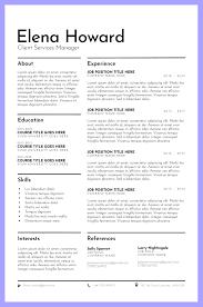 Professional Resume Template Cv Template Cv Design Modern Cv