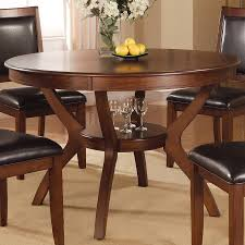coaster fine furniture nelms wood round dining table