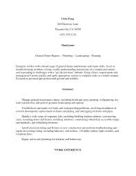 Handyman Job Description For Resume Job Description Handyman Free Resume Templates 7