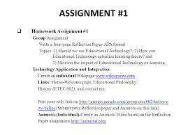 assignment  homework assignment group assignment write a  1 assignment