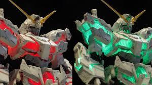Led Unicorn Gundam Destroy Mode Lighting Model Youtube
