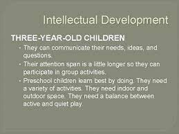 Developmental Milestones Preschoolers Willa Mack FACS Preschoolers Three