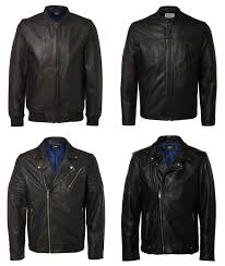 men s selected homme leather jackets