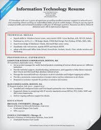 Information Technology Resume Resume Skills Information Technology Therpgmovie 8