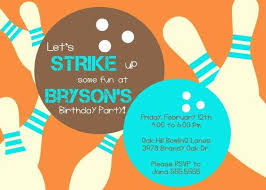 Bowling Party Invitations Template Free Wilkesworks