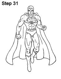 The superman character was created in 1932 (as batman), but appeared in comics 6 years later. How To Draw Superman Full Body