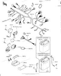 Kawasaki motorcycle 1985 oem parts diagram for chassis electrical automotive wiring harness at zx600 wiring harness
