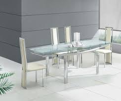 chic inspiration modern gl dining table 7 dining room pleasant design