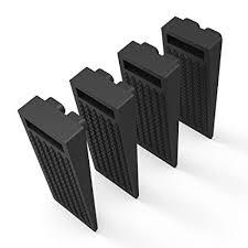 bearmoo door stop wedge flexible door stopper rubber 4 pack smart stackable slip