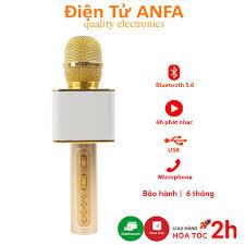 Micro không dây karaoke bluetooth JVJ SD-08, mic kèm loa nhỏ gọn, âm thanh  siêu chuẩn tại Hà Nội
