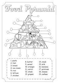 Food Pyramid | activities | Pinterest | Food pyramid, Worksheets ...