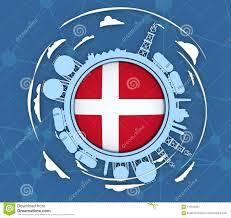 Denmark Industrial Design Design Concept Of Natural Gas Industry Stock Illustration