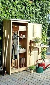 storing gardening tools shed plans garden tool cabinet now you can build any in a weekend