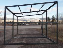 metal framing shed. If You Shoose To Build On Concrete Deck Piers May Raise Your Shed Legs Above The Ground. Place Open Ends Of Multiple Frames Facing Each Other Metal Framing T