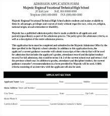 School Application Form Template Word Club Registration Sunday