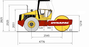 ca150 • dynapac atlas copco blueprint side view ca150