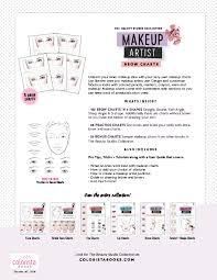 Makeup Artist Eye Charts Book Info Makeup Brow Charts Colorista Books