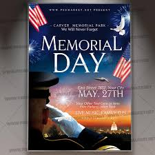 Happy Memorial Day Flyer Psd Template